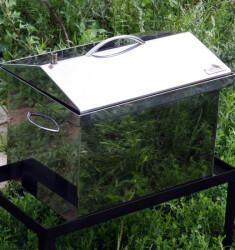 """Коптильня для горячего копчения с крышкой """"Домик"""" (400 х 300 х 310) из нержавеющей стали"""