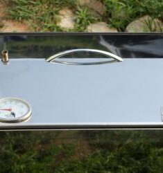 """Коптильня для горячего копчения с крышкой """"Домик"""" (400 х 300 х 310) из нержавеющей стали с термометром"""