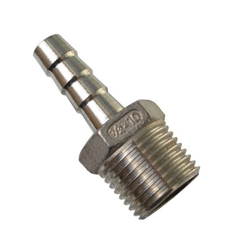 Штуцер под шланг 10 мм 1/2 дюйма (нержавейка)